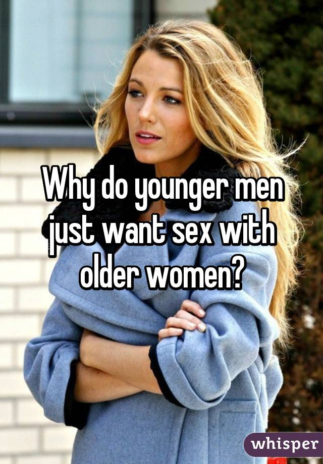 women who want younger men