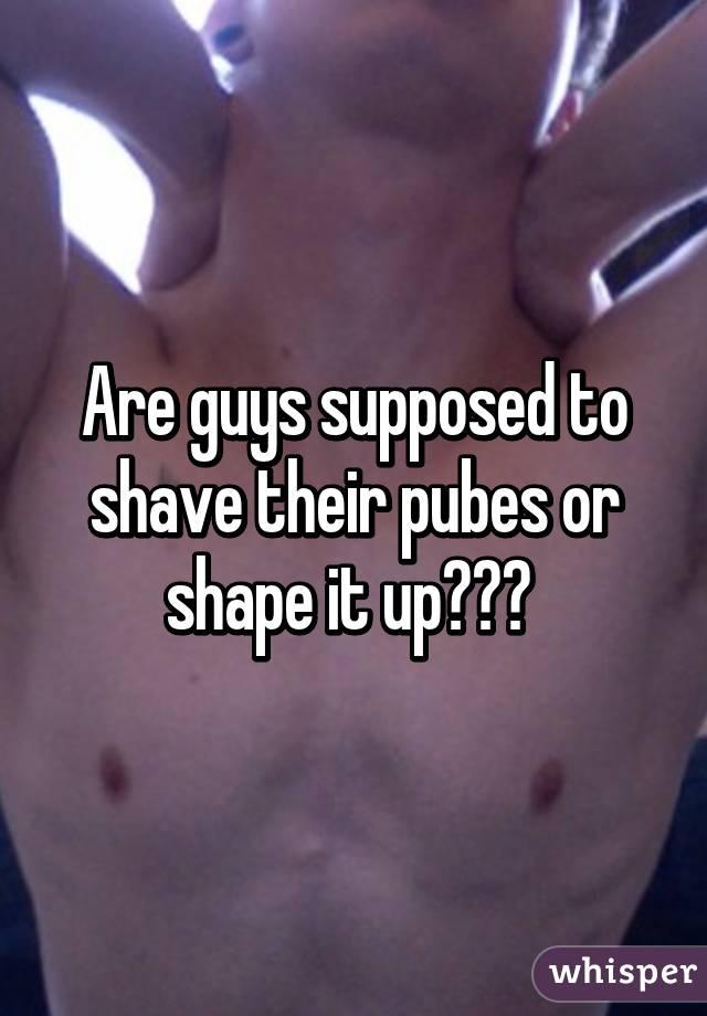 Guys shaving their pubes