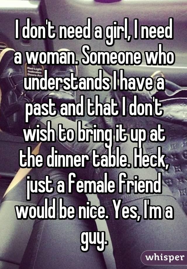 Need woman friend