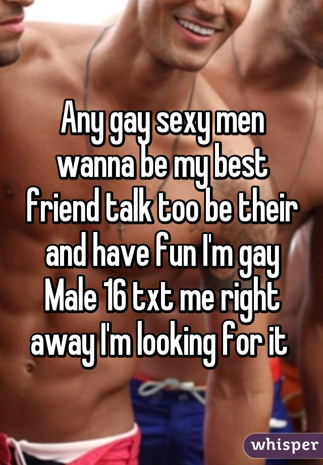 Looking for a gay friend