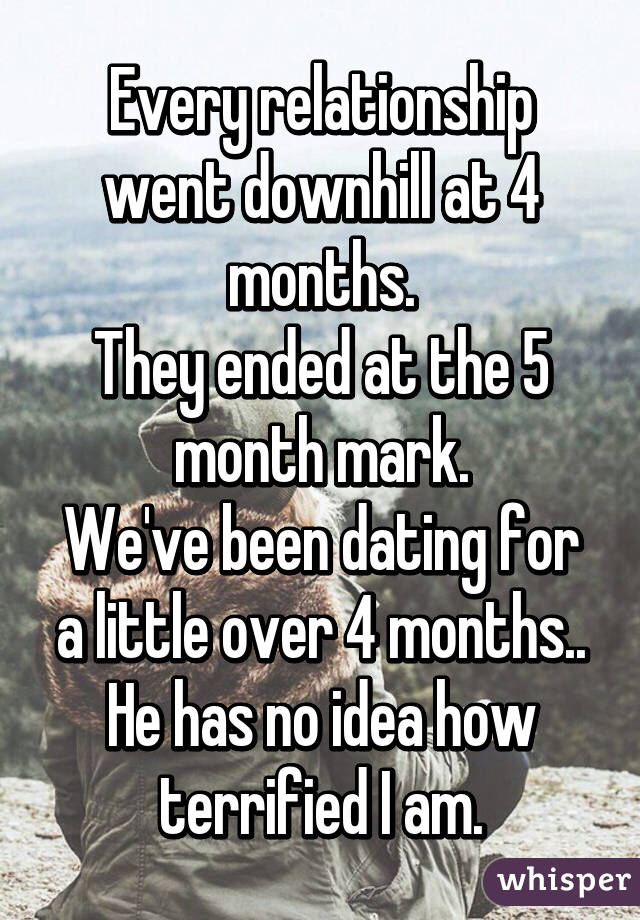 Four months dating serious relationship