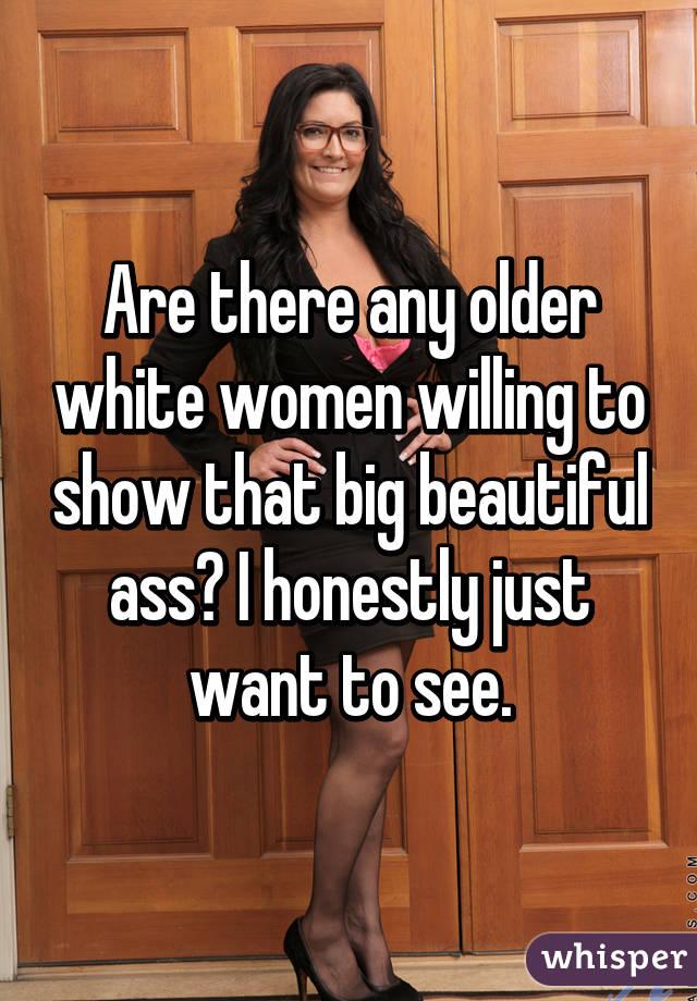 big ass older white women