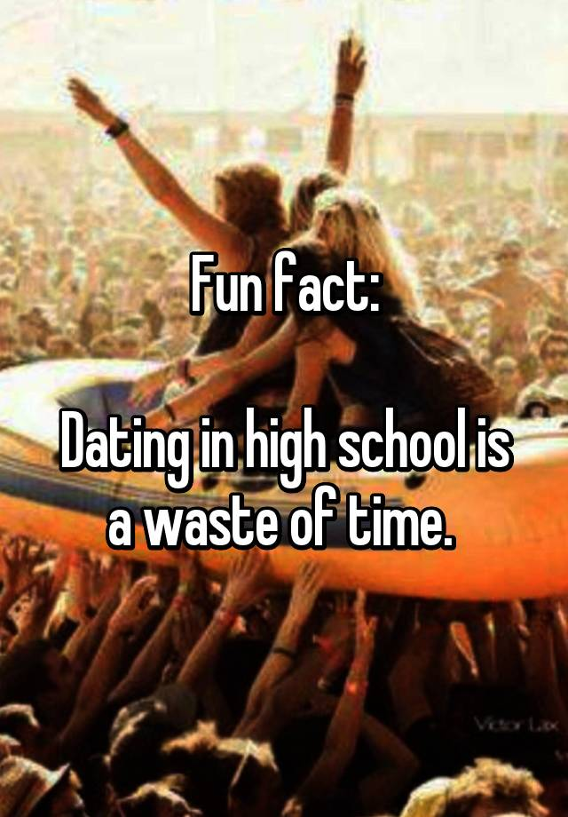 Dating Of Waste Is High Time A In School are