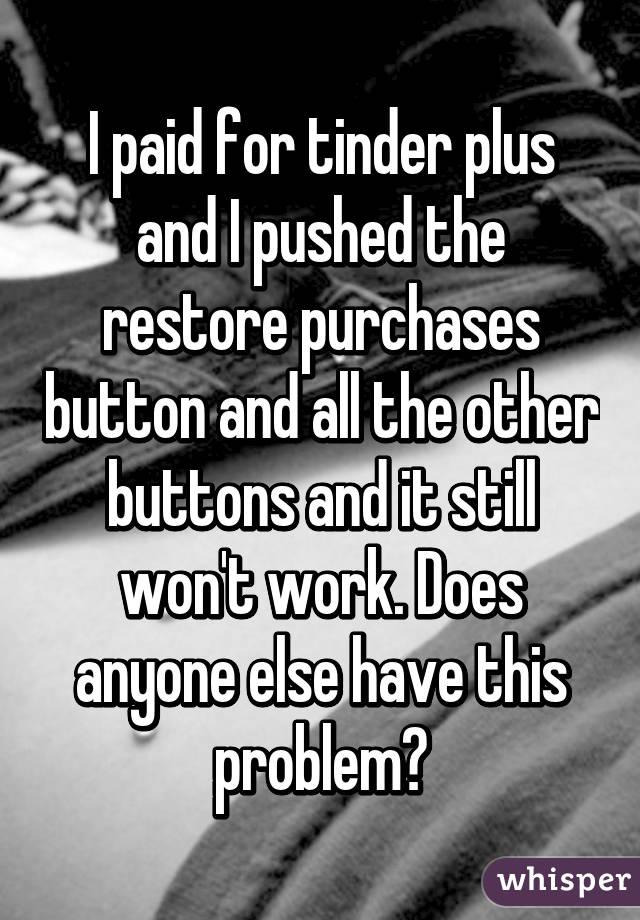 restore tinder