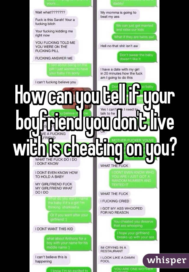 How to tell if ur man is cheating