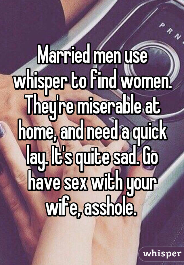 Women who have sex with married men
