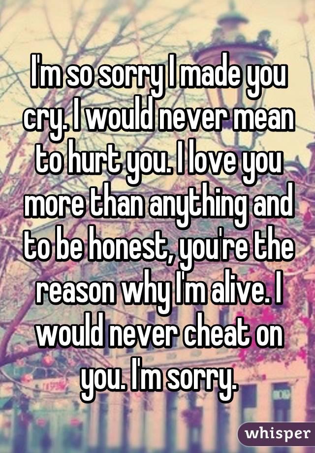 Im Sorry I Made You Cry