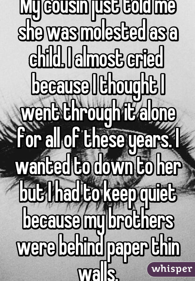 i molested my cousin as a child