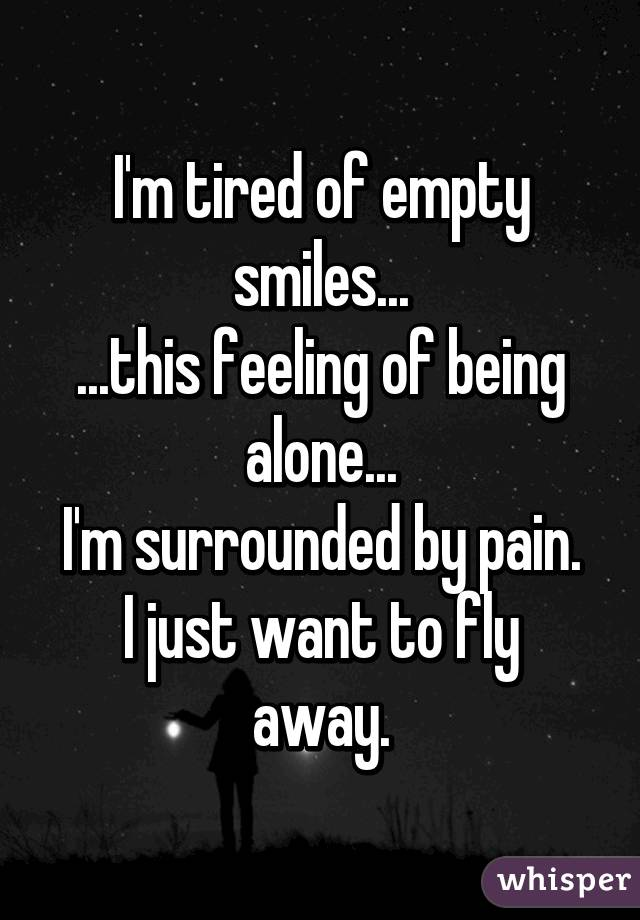 The feeling of being alone