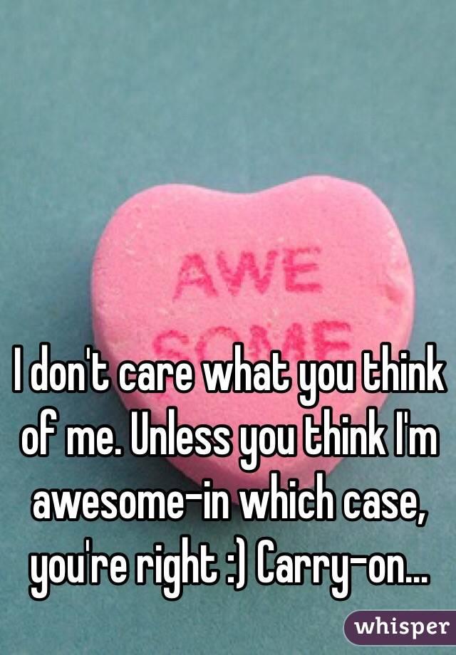 i think i am awesome