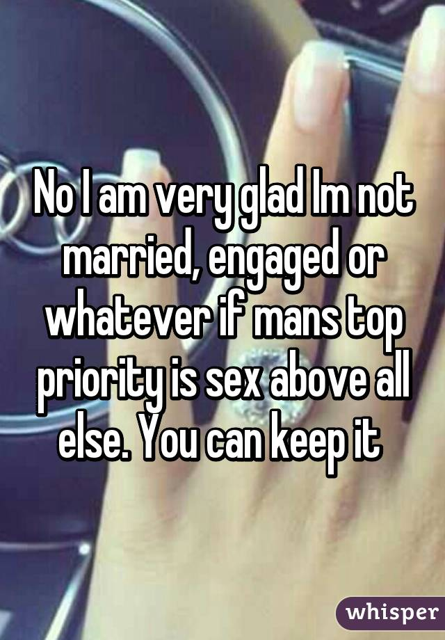 a sex priortiy is when