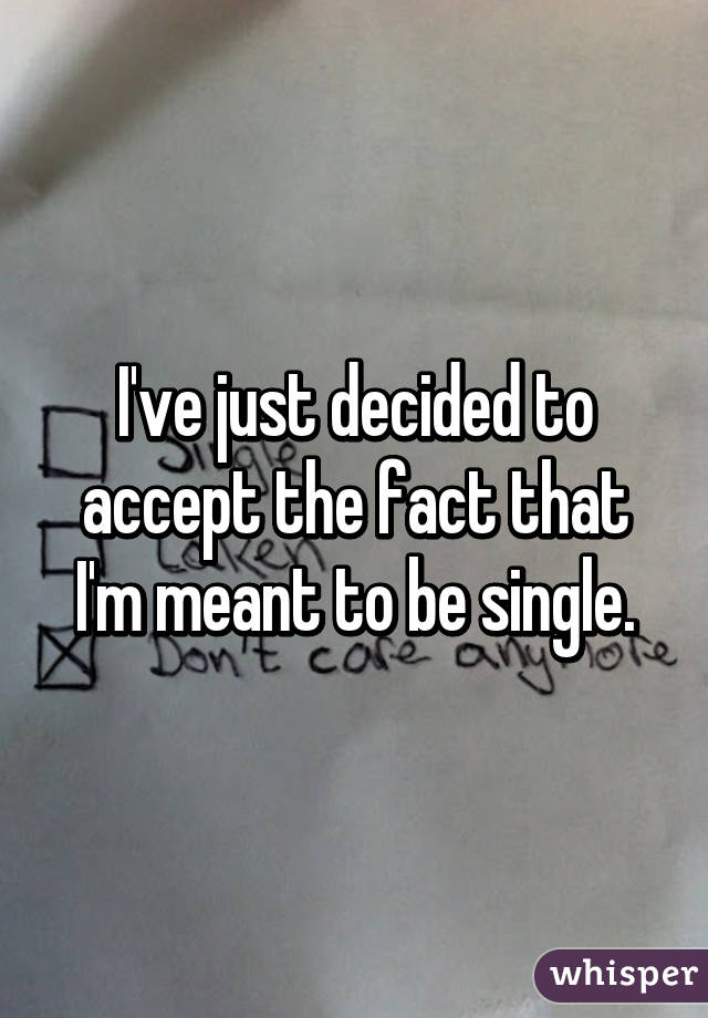 Am I Meant To Be Single