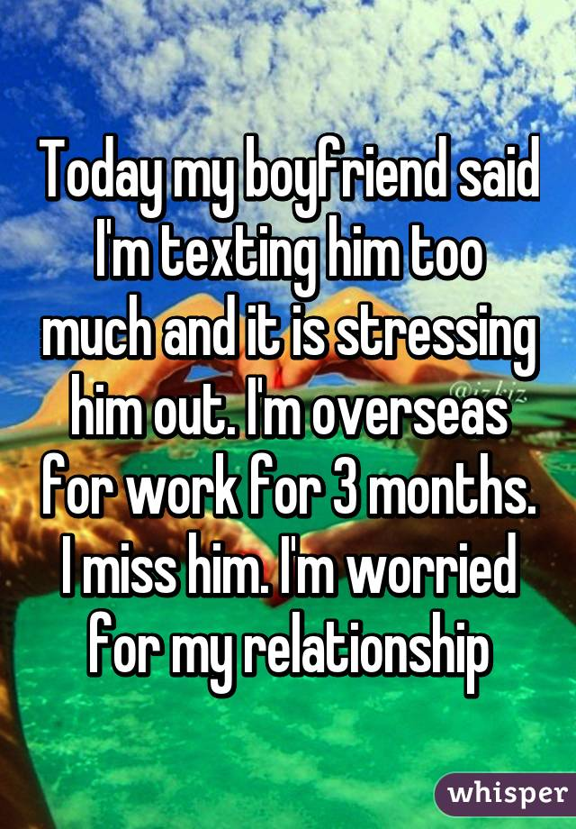 Too Much Texting In A Relationship