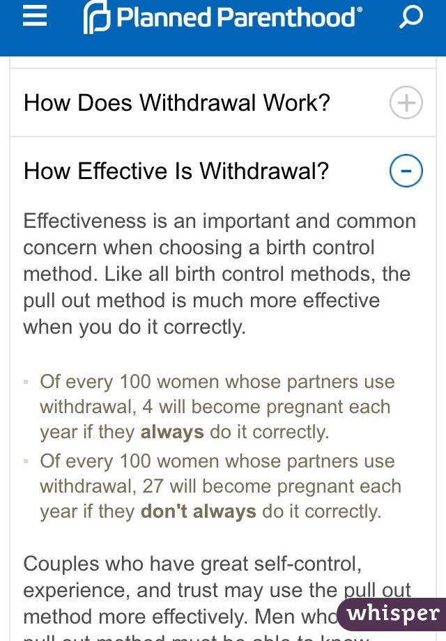 how effective is the pull out method of birth control