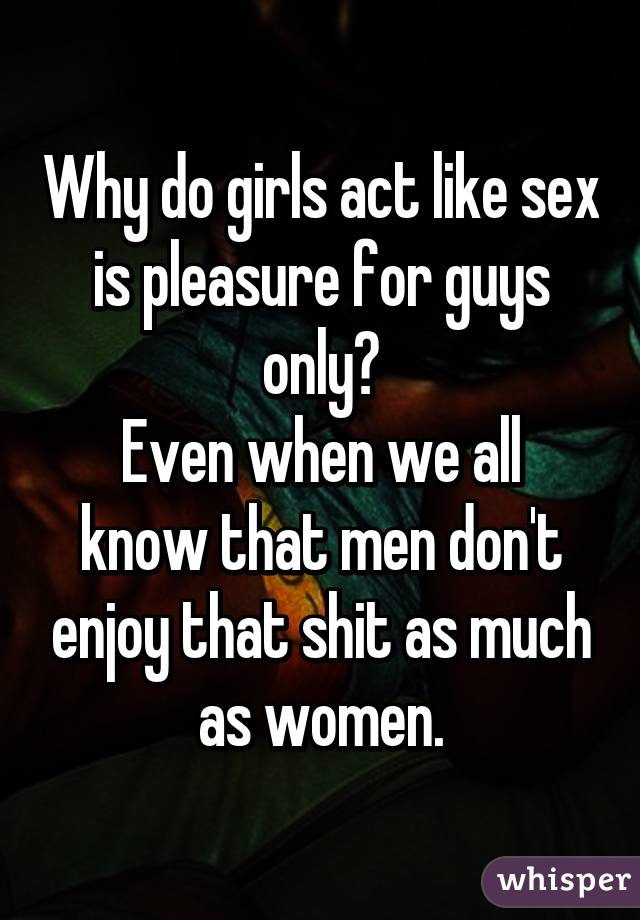 Why cant men perform sex act