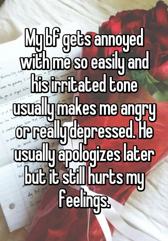 why do i get irritated with my boyfriend