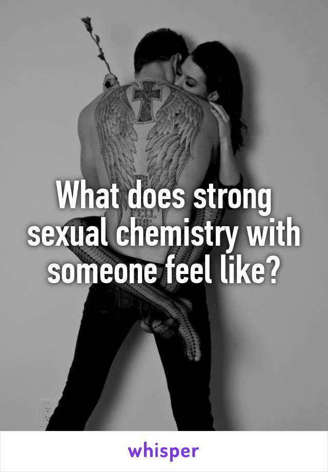 Sexual chemistry between 2 people signs