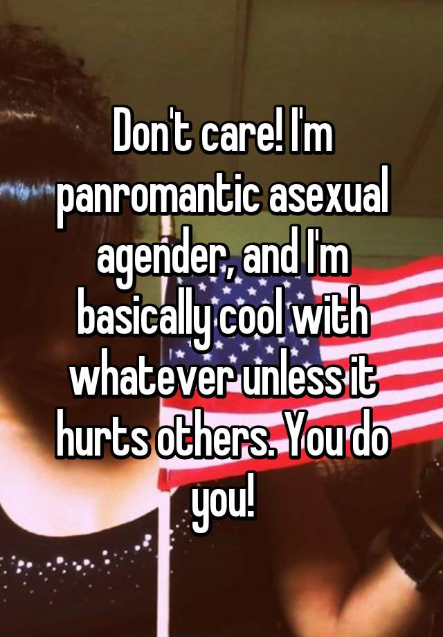 Panromantic asexual agender