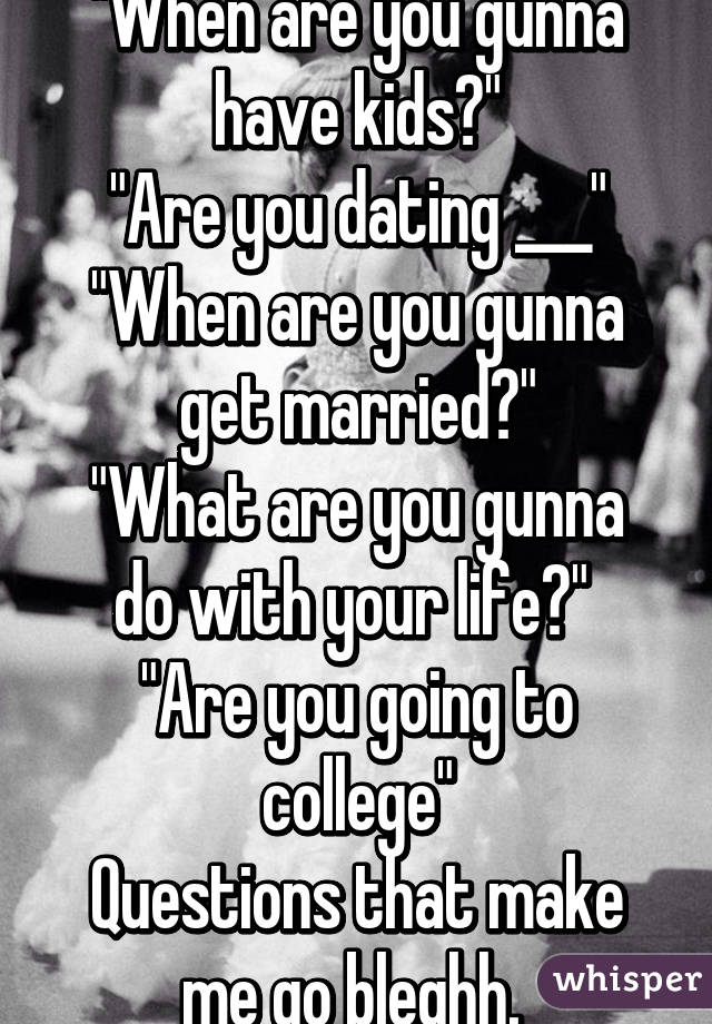 When are you dating