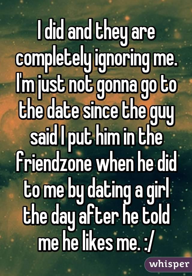 guy im dating is ignoring me