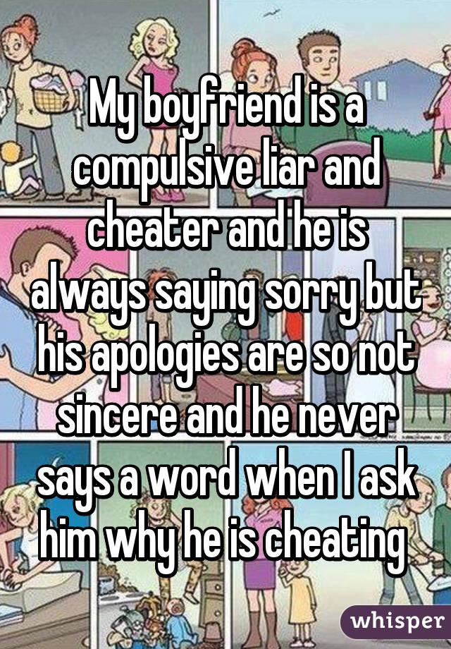 Compulsive cheater
