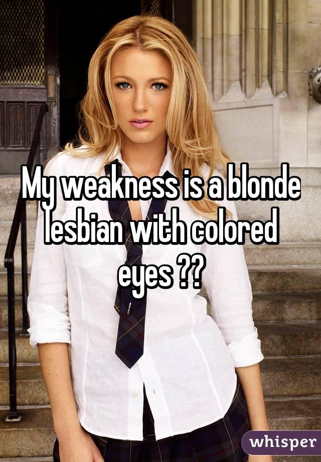 Adult blonde lesbian