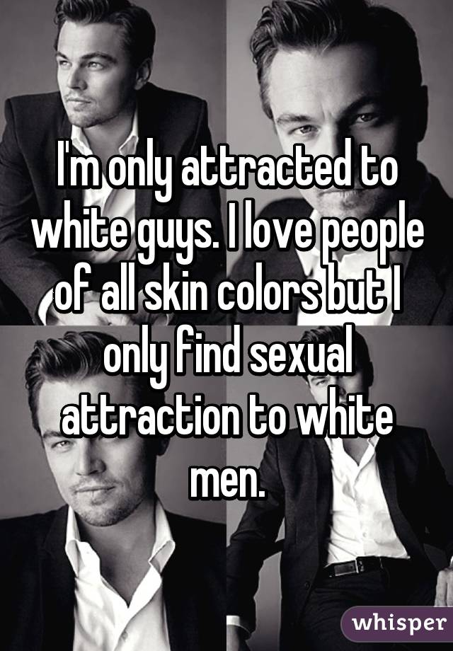 White guys only