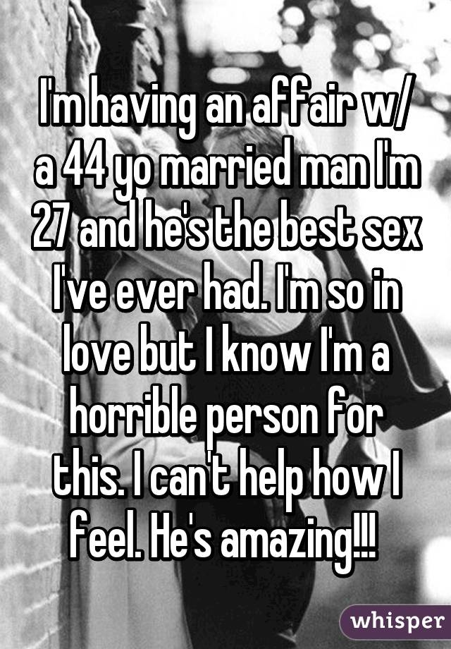 sex with a married man