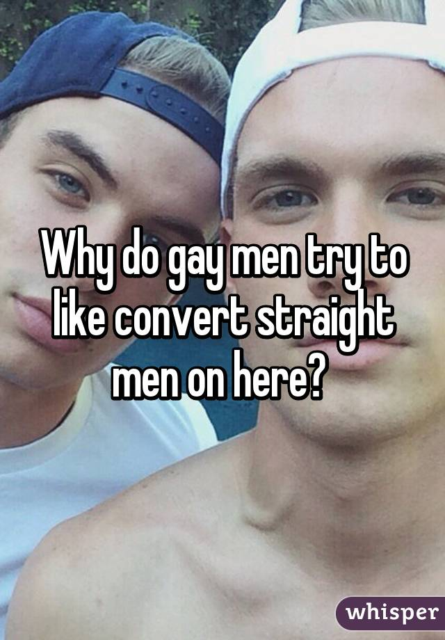 Straight men try gay