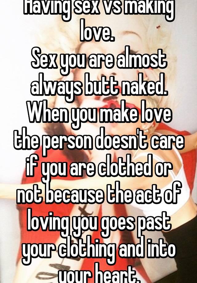 Make love vs sex