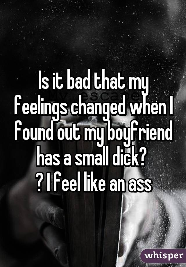 Useful my boyfriend has a small dick yes