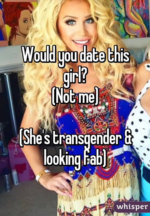 Who do transgenders date