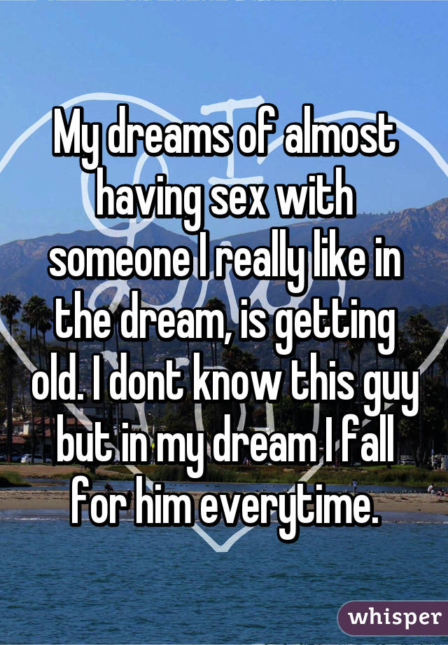 Dreaming about having sex with someone