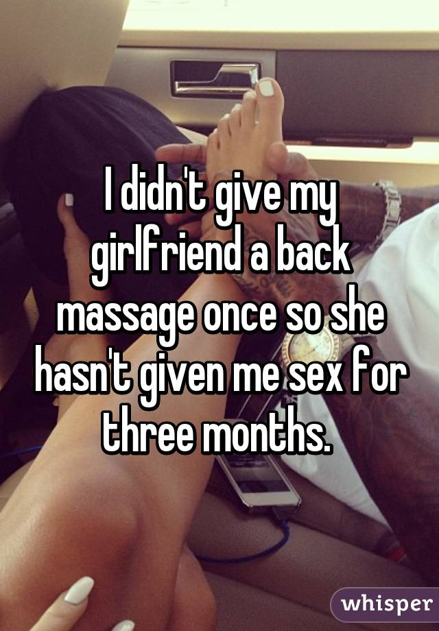 How to give a girl a sexy massage