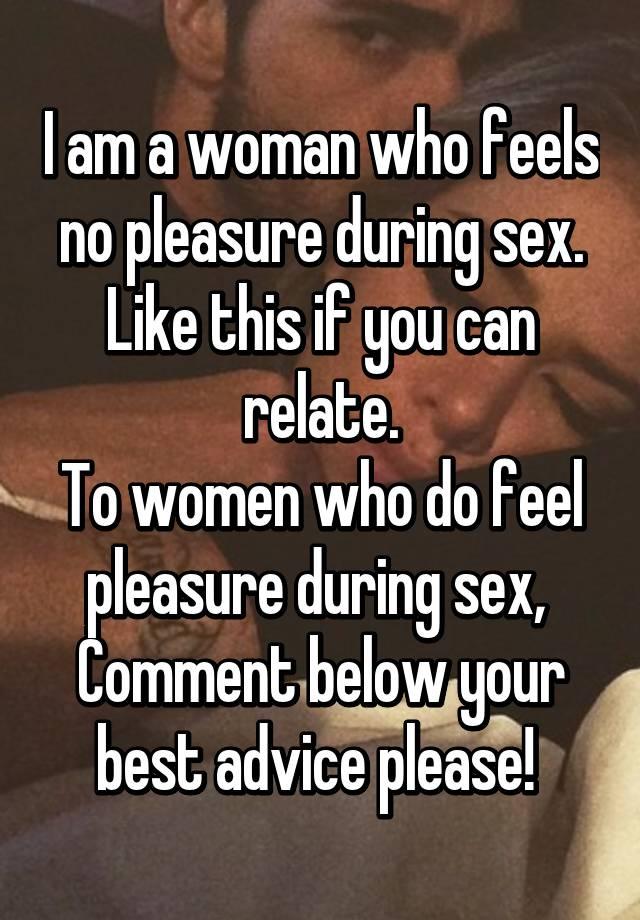 No pleasure in sex