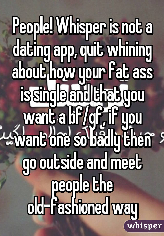 Is whisper a dating app