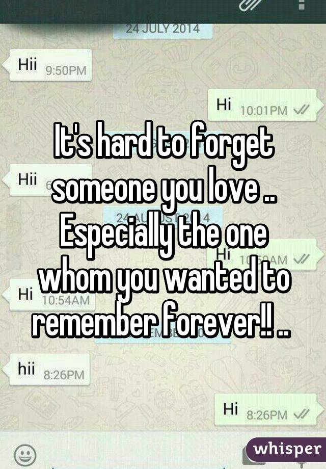 How to forget someone you like