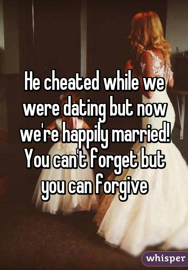 Cheating while dating and cheating while married