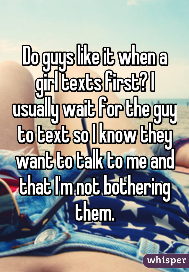 Girls that want to text guys