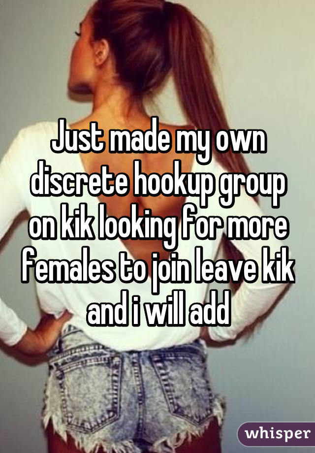 Is kik good for hooking up