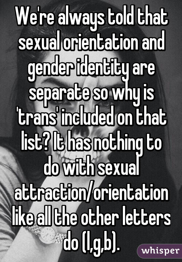 different sexual orientations list