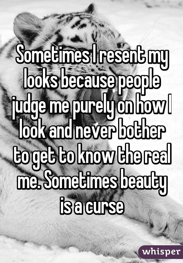 Why do people judge each other purely on looks?