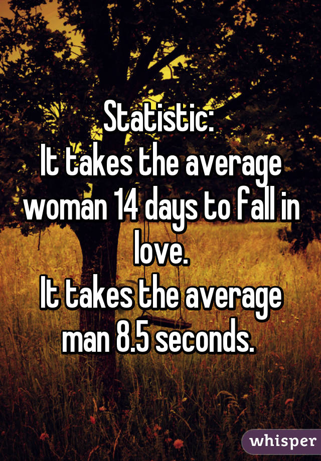 Love In Average To Fall Long How