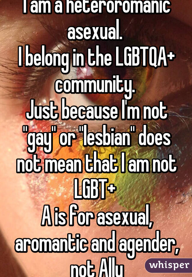 Im just asexual