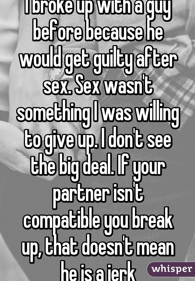 Guilty After Sex