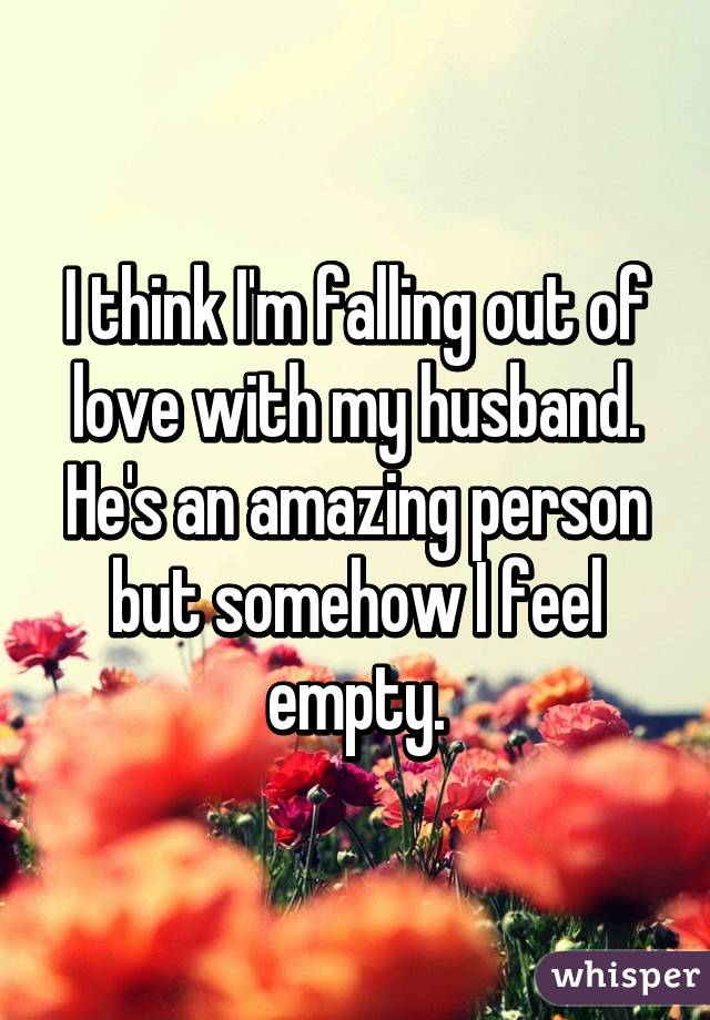 Falling Out Of Love With Your Spouse