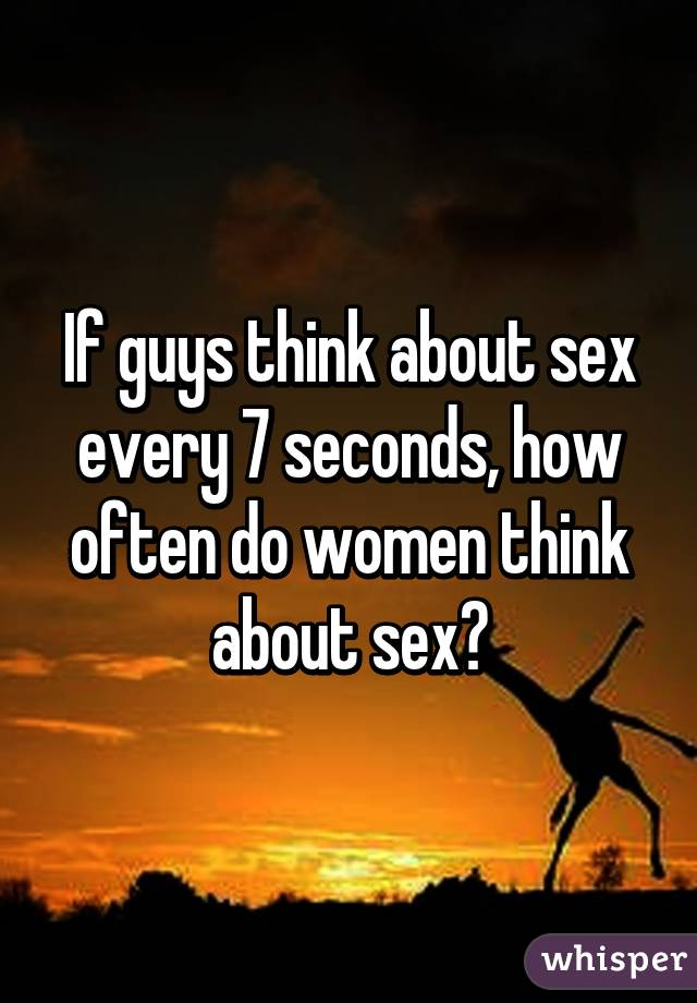 How often does a woman think about sex