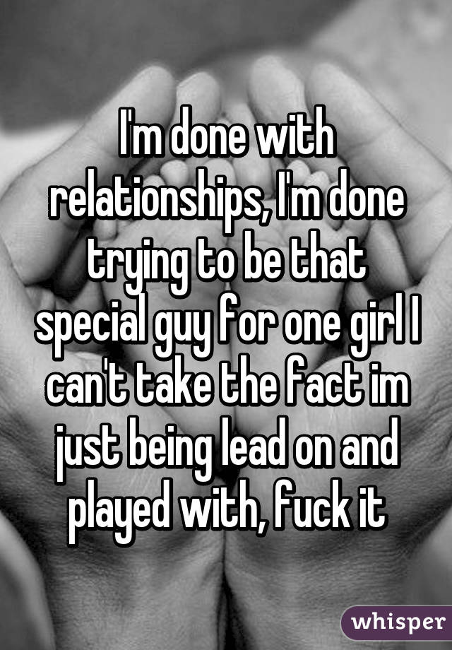 Being lead on by a girl