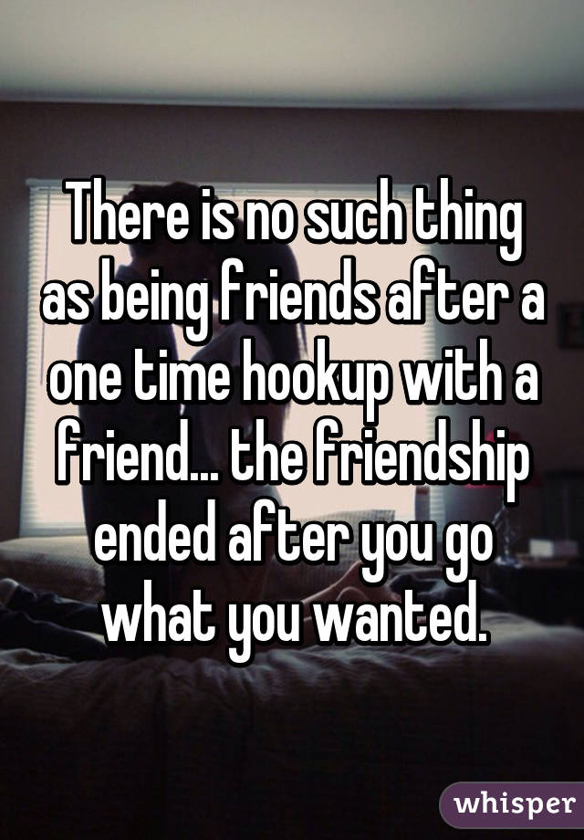 Can you be friends after hookup