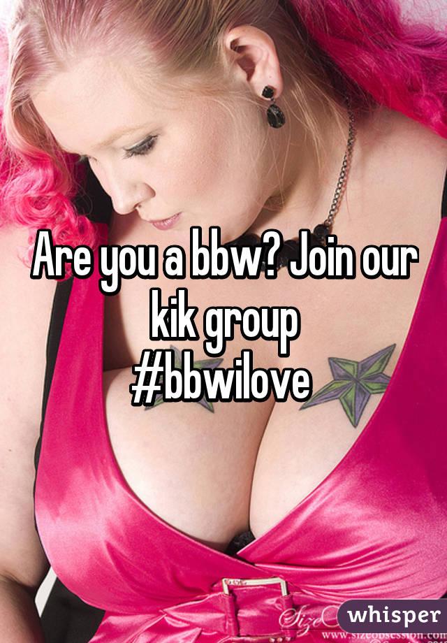 Kik girl bbw